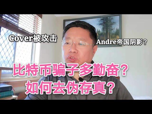 告诉您比特币骗子多勤奋?如何去伪存真?Cover被攻击为Andre… #比特币 #BTC